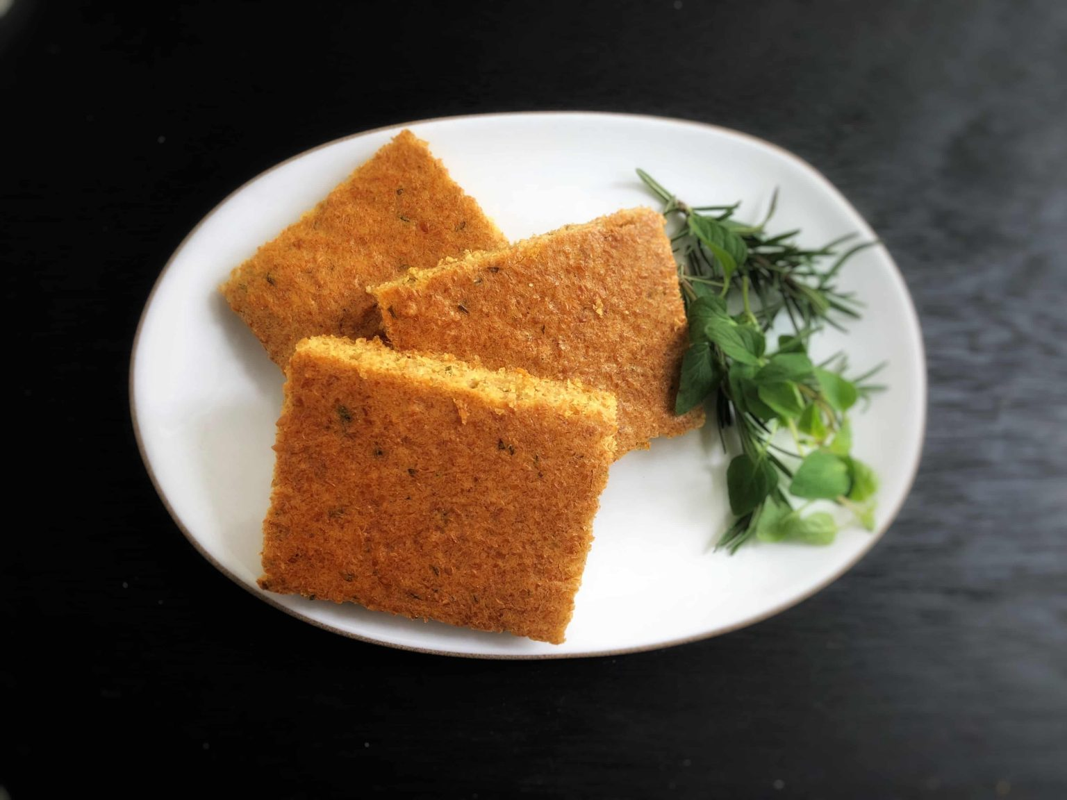 herbed flax focaccia