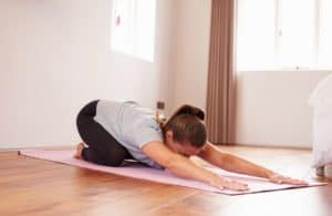 yoga and chronic fatigue childs pose