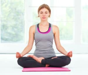 yoga and chronic fatigue syndrome cross legged pose