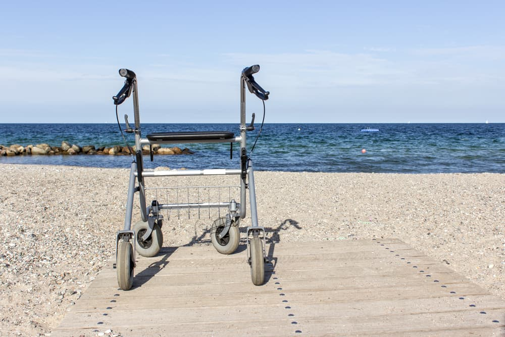 rollator at the beach