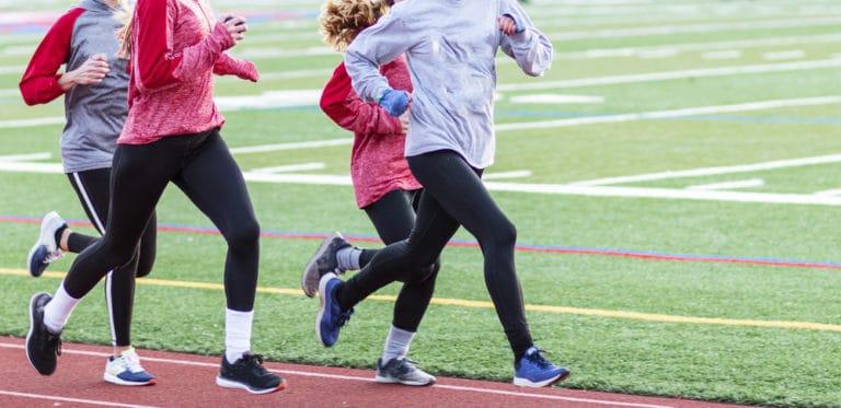 examples chronic illness - women running on track