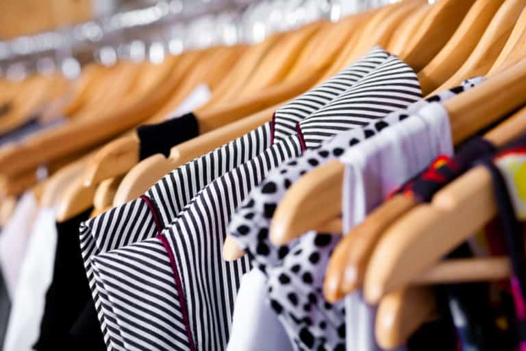 comfortable clothes for women - clothing on hangers